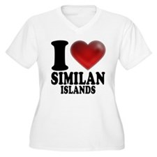 I Heart Similan Islands Plus Size T-Shirt