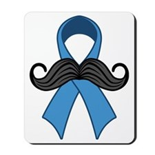 Prostate Awareness Ribbon Moustache Mousepad