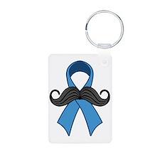 Prostate Awareness Ribbon  Aluminum Photo Keychain