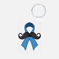 Prostate Awareness Ribbon  Aluminum Photo Keychain