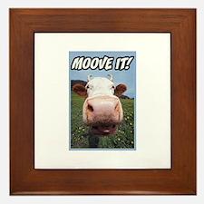 Moove It Cow Framed Tile