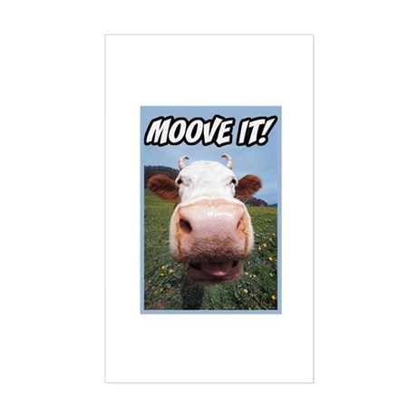 Moove It Cow Rectangle Sticker
