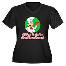 Give Pizza Chance Plus Size T-Shirt