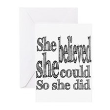 She Believed She Could Greeting Cards (Pk of 20)