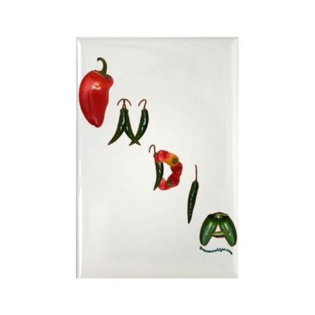 India Chilis Rectangle Magnet