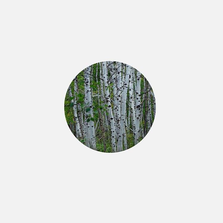 Thick Aspen grove Mini Button