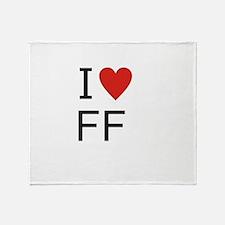 Cute Ff Throw Blanket