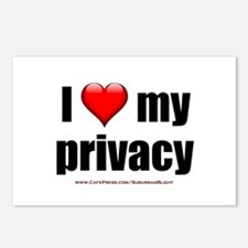 """Love My Privacy"" Postcards (Package of 8)"