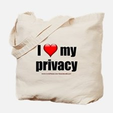 """Love My Privacy"" Tote Bag"