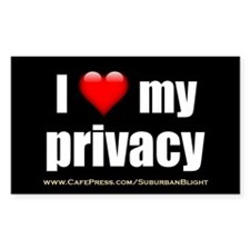 """Love My Privacy"" Decal"