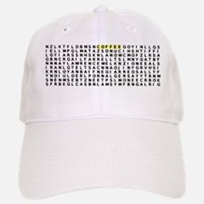 Word Search Baseball Baseball Cap
