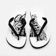 Manx Cat Flip Flops
