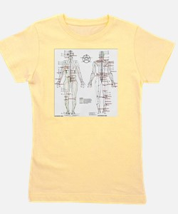 Chinese Meridians and Pressure points Girl's Tee