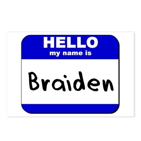 hello my name is braiden Postcards (Package of 8)