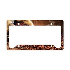 Coffee Aroma License Plate Holder