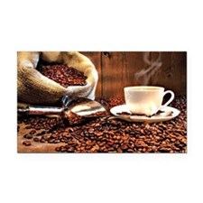 Coffee Aroma Rectangle Car Magnet