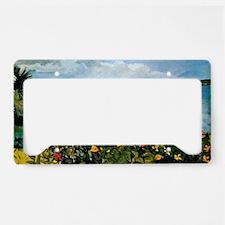 Winslow Homer - Flower Garden License Plate Holder