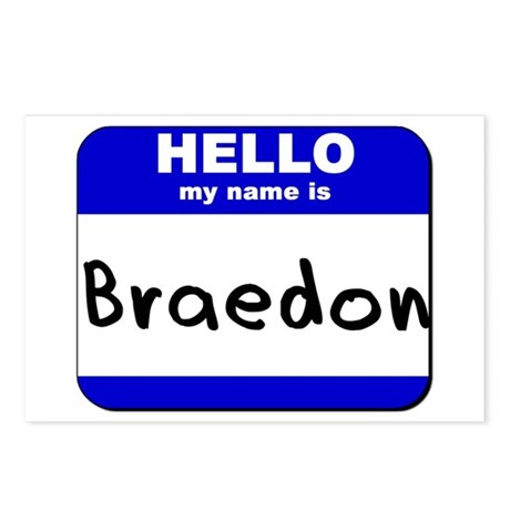 hello my name is braedon Postcards (Package of 8)