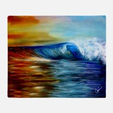 Maui Wave King Duvet Cover Throw Blanket