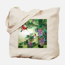 Beautiful Nature & Birds Motif Tote Bag