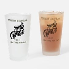 2 Million Bikers Drinking Glass
