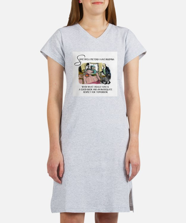 Insomnia and a Good Book Women's Nightshirt