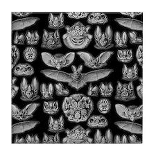 Vintage Bat Illustrations Tile Coaster