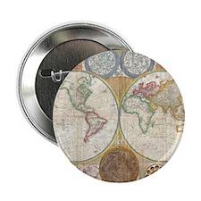 """World Map 1794 2.25"""" Button"""