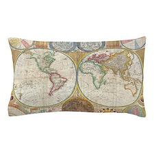 World Map 1794 Pillow Case