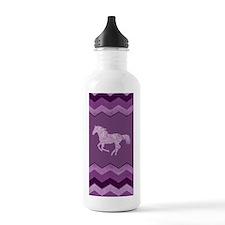 Purple Paisley Horse Water Bottle