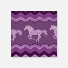 "Purple Paisley Horse Square Sticker 3"" x 3"""