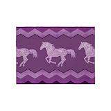 Purple horse 5x7 Rugs