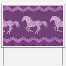 Purple Paisley Horse Yard Sign
