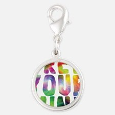 FREE YOUR MIND Silver Round Charm