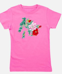 Beautiful Floral Vintage Design Girl's Tee