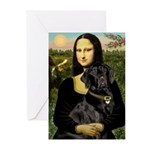 Mona's Black Lab Greeting Cards (Pk of 10)