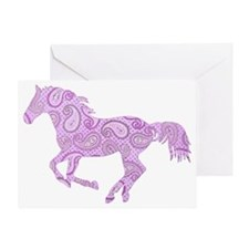Purple Paisley Horse Greeting Card