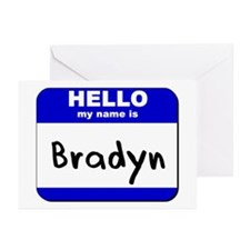 hello my name is bradyn  Greeting Cards (Package o