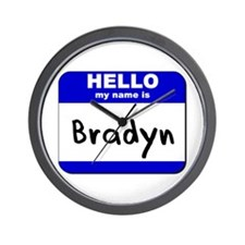 hello my name is bradyn  Wall Clock