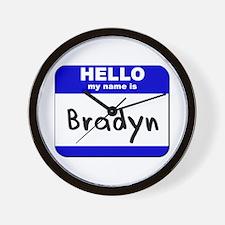 hello my name is bradyn  Wall Clock