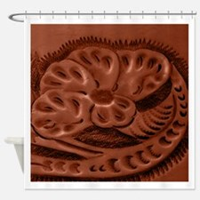 leather rose Shower Curtain