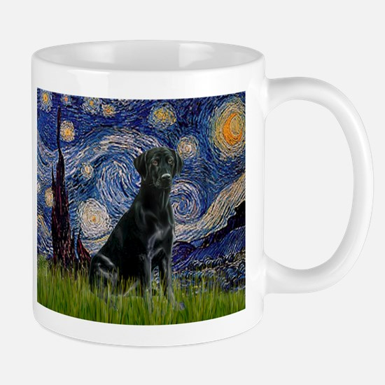 Starry Night Black Lab Mug