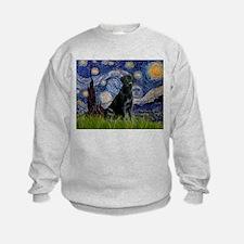 Starry Night Black Lab Sweatshirt