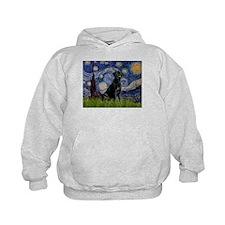 Starry Night Black Lab Hoodie