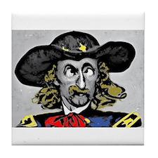 Custer ''Where is Reno?'' Tile Coaster