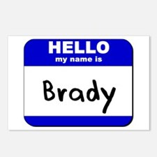 hello my name is brady  Postcards (Package of 8)