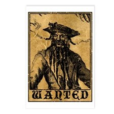Blackbeard Wanted Poster Postcards (Package of 8)