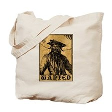 Blackbeard Wanted Poster Tote Bag