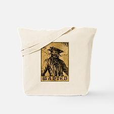 Blackbeard Wanted Poster Tote Bag