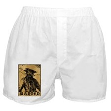Blackbeard Wanted Poster Boxer Shorts